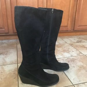 Black tall boots, size 9